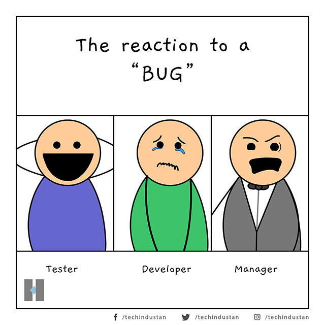 The Reaction to a Bug