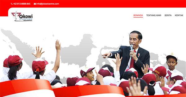 Jokowi Centre Foundation Organization Website